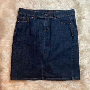 NWOT Wrangler dark wash denim blue jean skirt midi
